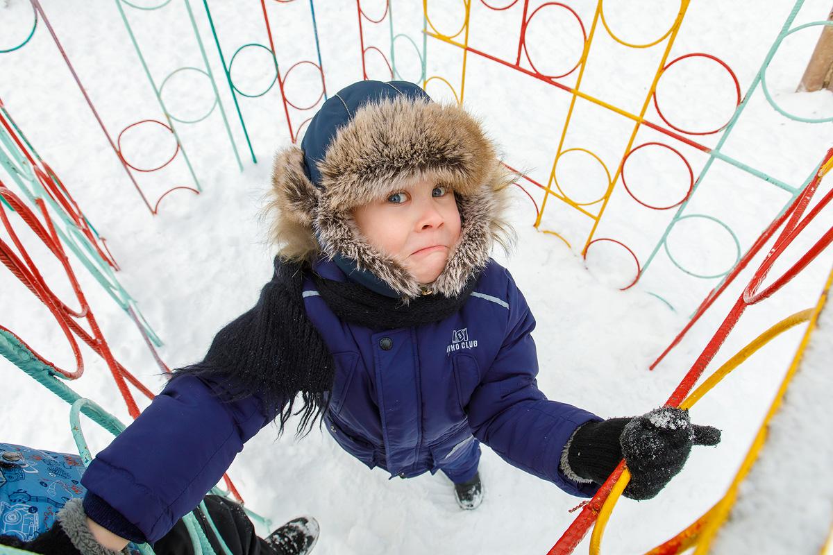 Зимняя прогулка фотограф детский сад Кемерово